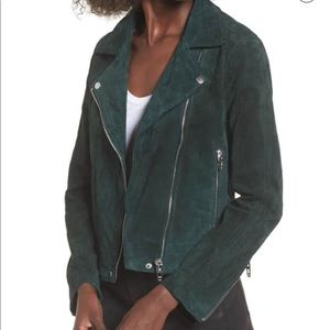 BlankNYC suede emerald motto jacket